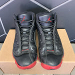 Used W/O Box! Air Jordan 13 Dirty Bred Black Size 8.5