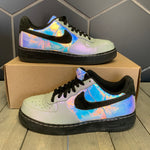 Used W/O Box! Nike Air Force 1 Comfort Hologram Black Size 8