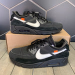 Used W/O Box! Nike x Off White Air Max 90 Black Size 11.5
