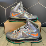 Used W/O Box! Nike Lebron 10 X Galaxy Silver Nike ID Custom Basketball Size 11