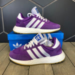 New W/ Box! Womens Adidas Iniki I-5923 Purple White Running Shoes (Multiple Sizes)