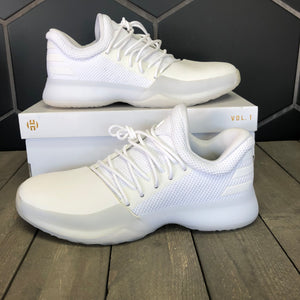 New W/ Box! Adidas Harden Volume 1 Yacht Party White Basketball Shoes Size 9