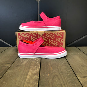 New W/ Box! Toddlers Vans Mary Jane Hot Pink White Size 10