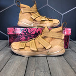 Used W/ Box! Nike Lebron Soldier XI 11 Wheat Gold SFG Size 11