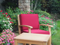 Teak deep seating outdoor chair