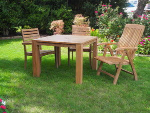 teak chair and table outdoor living patio furniture