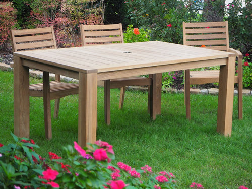 teak table outdoor living patio furniture