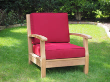 Load image into Gallery viewer, teak chair deep seating outdoor living patio furniture