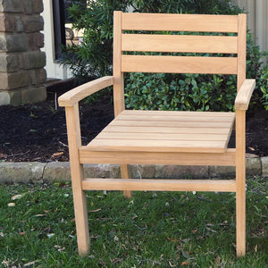 Teak patio chair