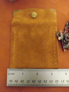 Suede Rosary Pouch