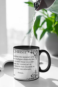 Anima Christi Latin prayer mug