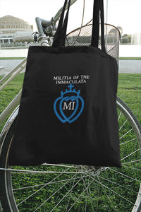 Militia Immaculata logo embroidered black tote