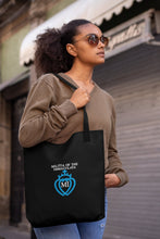 Load image into Gallery viewer, Militia Immaculata logo embroidered black tote