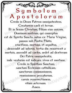 Digital Download: Symbolum Apostolorum -- Apostles Creed Latin