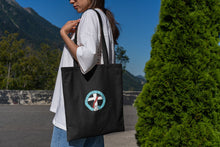 Load image into Gallery viewer, Deacon's Wife Logo Black Embroidered Tote