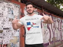 Load image into Gallery viewer, Republica Dominicana -- White, Short Sleeve tee