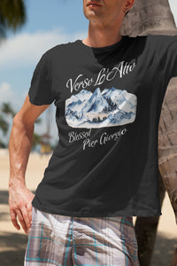 Blessed Pier Giorgio  -- Black, short sleeve tee