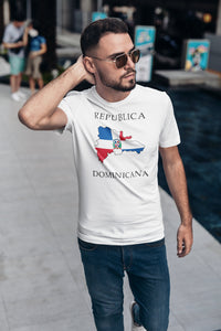 Republica Dominicana -- White, Short Sleeve tee
