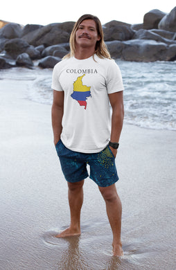 Colombia -- White, Short Sleeve tee