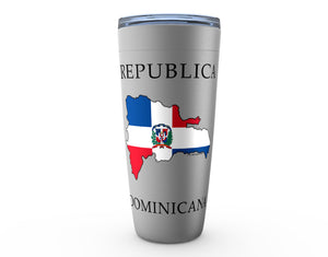 Republica Dominicana Silver Viking Tumbler