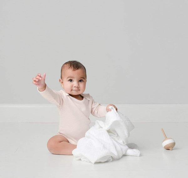 Baby Mori Blush Long Sleeve Bodysuit