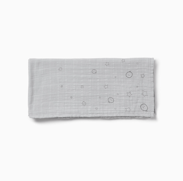 Baby Mori Pure Cotton Muslin in Grey