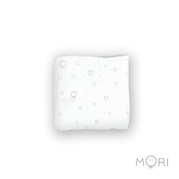 Baby Mori Pure Cotton Muslin in White