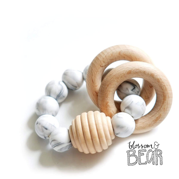 Blossom & Bear Beehive Marble Wooden Teething Toy