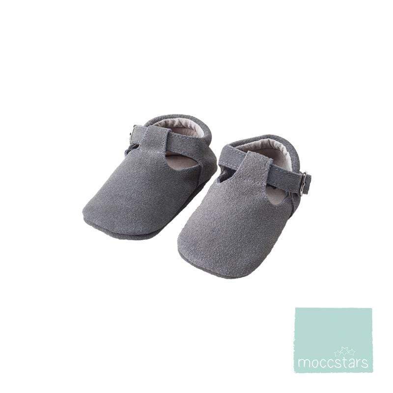 Moccstars Suede Grey T-Bars