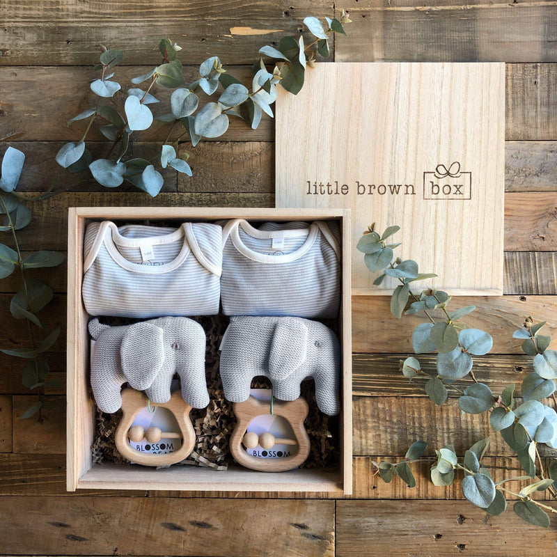 The Midi Blue Twin New Baby Gift Box