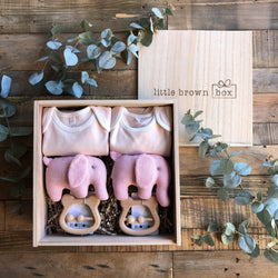 The Midi Blush Twin New Baby Gift Box