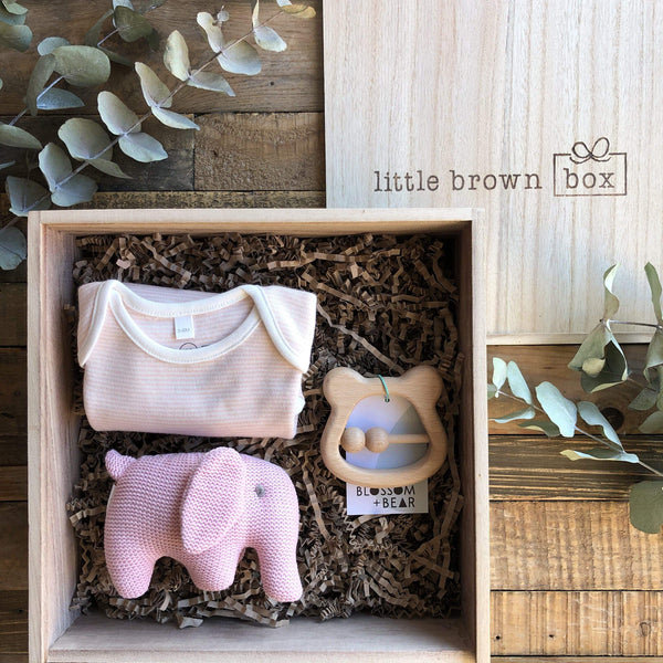 The Mini Blush New Baby Gift Box