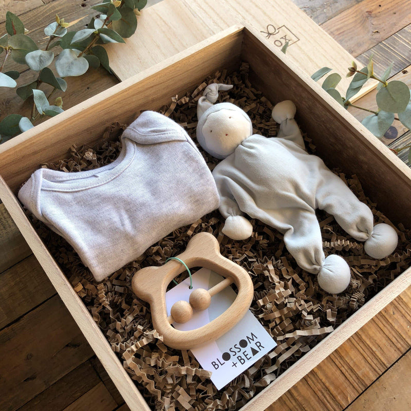 The Mini Grey New Baby Gift Box