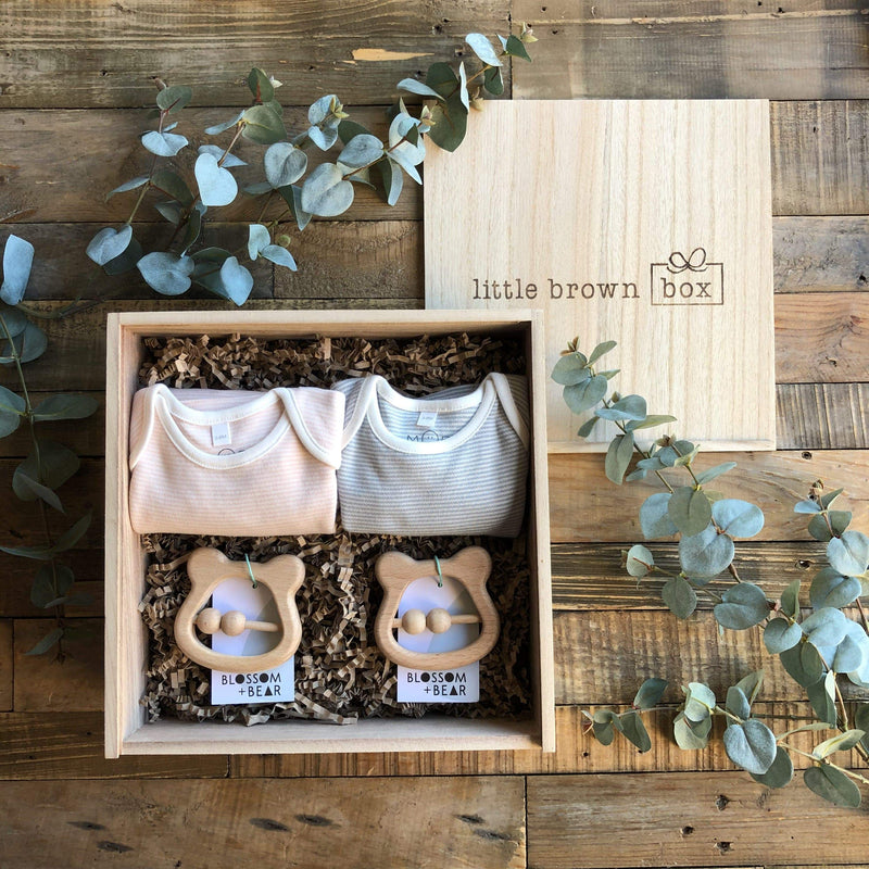 The Mini Mix Twin New Baby Gift Box