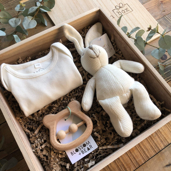 The Mini White New Baby Gift Box