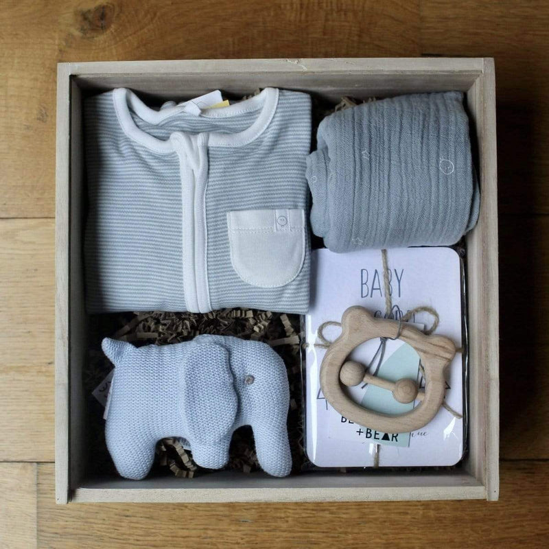 The Ultimate Blue New Baby Gift Box