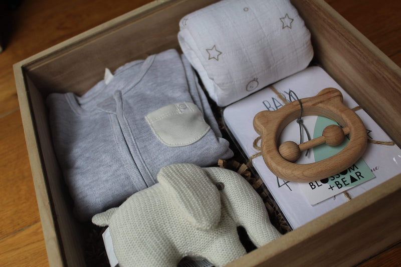 The Ultimate Grey New Baby Gift Box