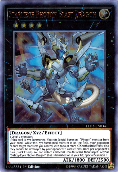 Legendary Duelists: White Dragon Abyss - Starliege Photon Blast Dragon