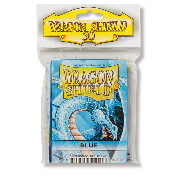 Dragon Shield Sleeves: Standard- Classic Blue (50 ct.) - ExtraDeck