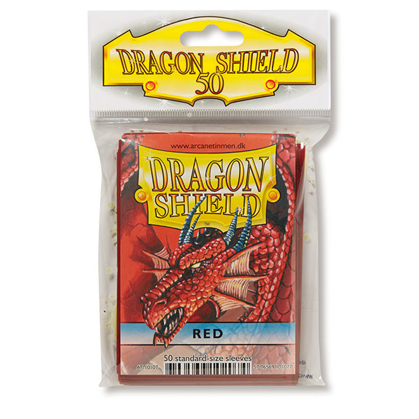 Dragon Shield Sleeves: Standard- Classic Red (50 ct.) - ExtraDeck