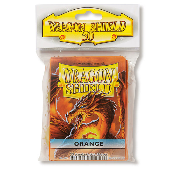 Dragon Shield Sleeves: Standard- Classic Orange (50 ct.) - ExtraDeck