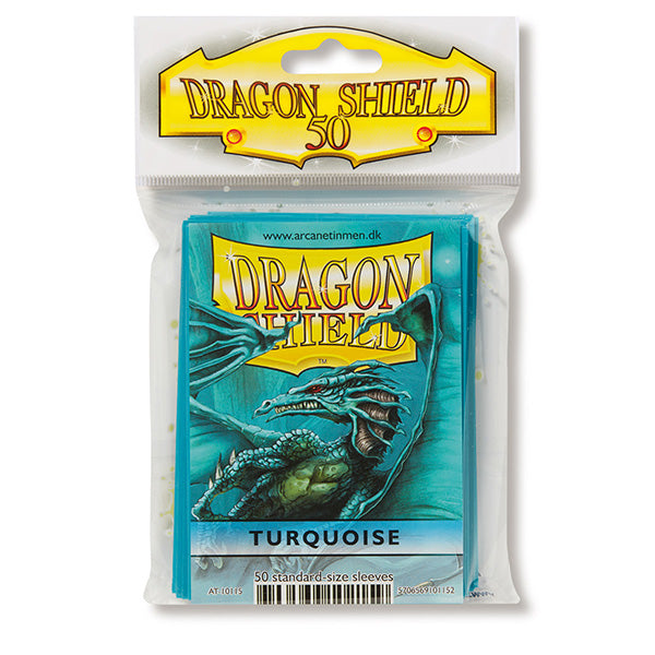 Dragon Shield Sleeves: Standard- Classic Turqouise (50 ct.) - ExtraDeck