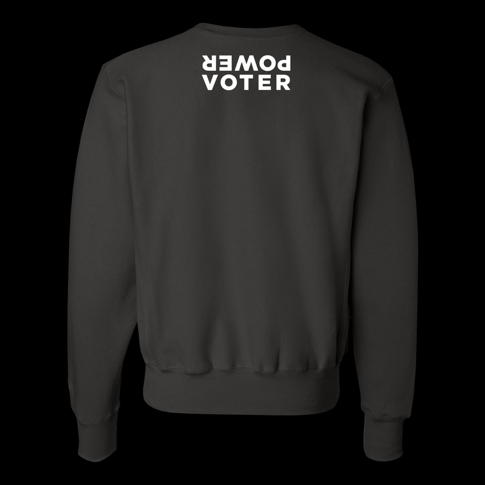 PRECAUTION: THIS VOTER | WILL NOT BE SUPPRESSED. | CREWNECK