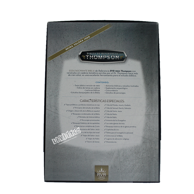 Biblia de referencia Thompson (Semi piel gris)