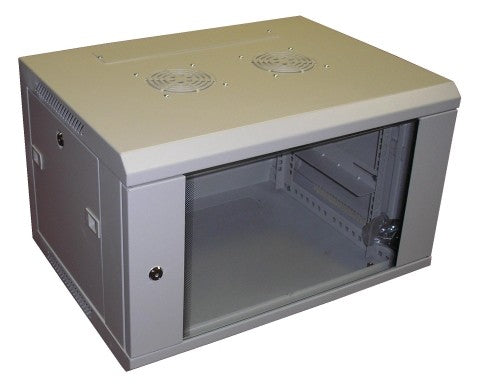 All-Rack Wall Mount Comms Cabinet 9u 600mm Wide x 450mm Deep Data Rack, Network Cabinet - Grey
