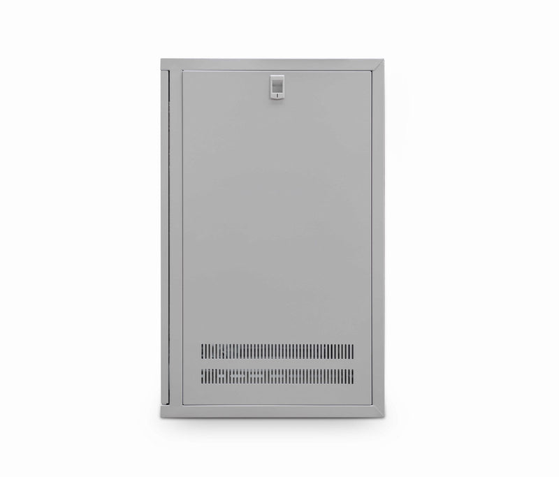 LMS Data Wall Mount Cabinet 12u 550mm  Wide x 550mm Deep Comms Cabinet With Shelf - Grey