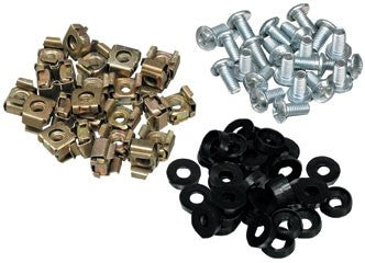 50 x Cage Nuts & Bolts - Silver