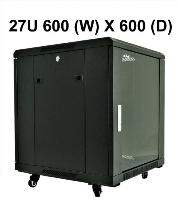 All-Rack 27u 600mm Wide x 600mm Deep Floor Standing Server/Data Cabinet - Black £246.54 - £325.74 ex VAT (BACKORDER ONLY)