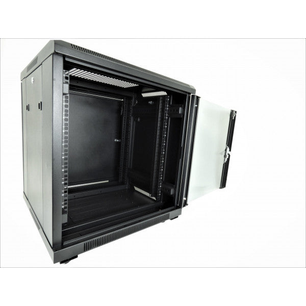 All-Rack 12u 600 Wide x 600 Deep Floor Standing Data Cabinet - Black