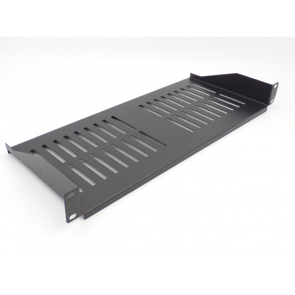 All-Rack 1u 200mm Deep Front Fixing Cantilever Shelf  - Black